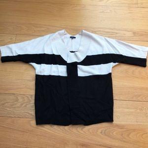 Black and White Gap Sweater